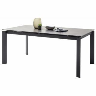 Table repas extensible ALMARAZ 180/240 x 95 cm ¨Plateau Céramique gris anthracite