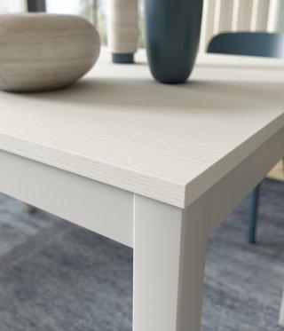 Table de repas extensible ALUNGO 120 x 80 cm chêne blanc