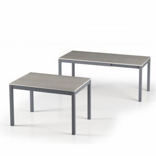 Table de repas extensible ALUNGO 120 x 80 cm finition effet béton