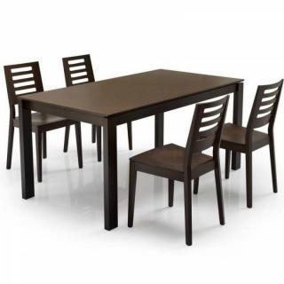 Table repas extensible BARON  130x85 wengé