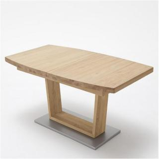 Table repas extensible CATANE 140 x 90 cm chêne sauvage huilé massif