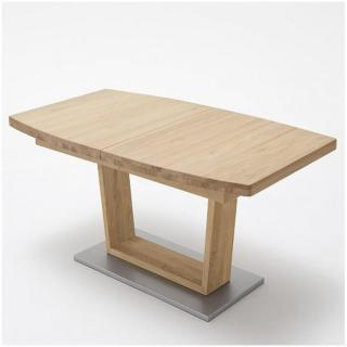 Table repas extensible CATANE 180 x 100 cm chêne sauvage huilé massif