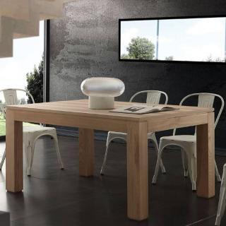 Table repas extensible CONTEMPORANEO en bois massif naturel