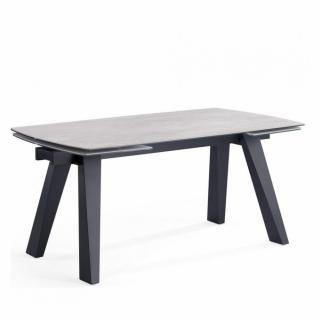 Table repas extensible ASTRALE céramique gris béton 160/240 x 90 cm