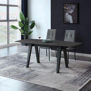 Table repas extensible ASTRALE céramique gris anthracite 130/190 x 85 cm