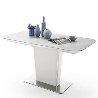 Table extensible KEITA céramique gris clair 160 x 90 cm