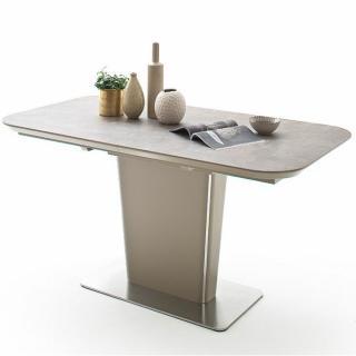 Table extensible KEITA céramique taupe 160 x 90 cm