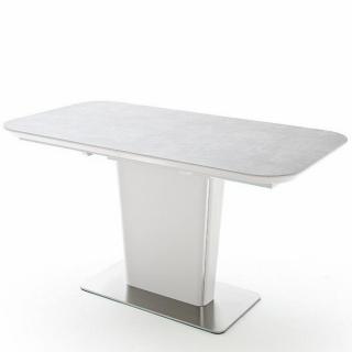 Table extensible KEITA céramique gris clair 180 x 95 cm