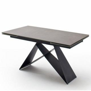 Table repas extensible KONAN  céramique gris 160 x 90 cm