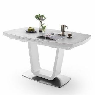 Table extensible LUCIA céramique gris clair 140 x 85 cm