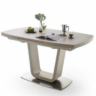 Table  extensible LUCIA plateau céramique taupe 160 x 90 cm