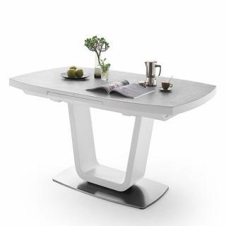 Table extensible LUCIA plateau céramique gris clair 180 x 95 cm