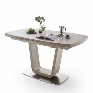 Table extensible LUCIA plateau céramique taupe 180 x 95 cm