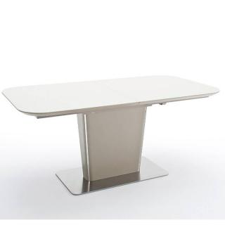 Table repas extensible design UMA 140cm taupe