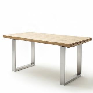 Table repas extensible DUBLIN 200 x 100 cm chêne sauvage acier brosse