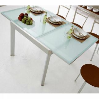 table de repas design au meilleur prix calligaris table repas extensible elasto 90x90 en verre. Black Bedroom Furniture Sets. Home Design Ideas