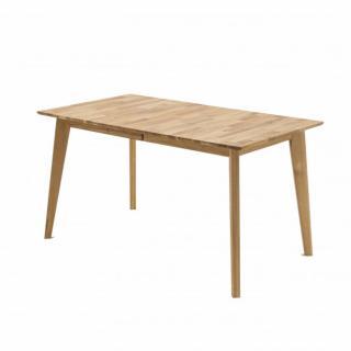 Table repas extensible ENGLOS 140/185 x 80 cm coeur de hêtre