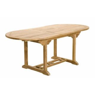 Table repas extensible de jardin ovale FUN 150*200 cm en teck