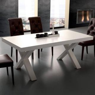 Table repas extensible BRIO finition blanche 90 x 160 cm 2 allonges de 50 cm.