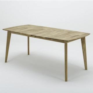 Table repas extensible JAMES 140/185 x 80 cm chêne sauvage