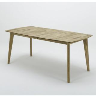 Table repas extensible JAMES 140/185 x 80 cm coeur de hêtre
