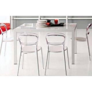 CALLIGARIS Table repas extensible KEY  130x89 en verre