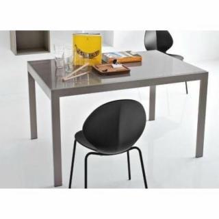 Table repas extensible KEY  130x89 plateau verre grège