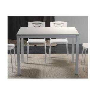 Table repas extensible MAJESTIC 130 x 80 cm blanche