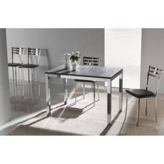 Table repas extensible MAJESTIC 130 x 80 cm finition ardoise