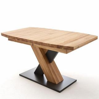 Table repas extensible MELERO 140 x 90 cm chêne sauvage huilé massif