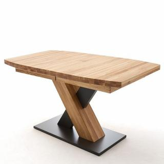 Table extensible MELERO 180 x 100 cm chêne sauvage huilé massif