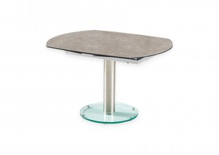 Table de repas extensible MEXICO GREY CREAM  plateau et allonge en céramique