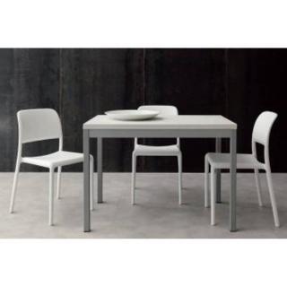 Table repas extensible SPLIT 70*140/110 cm blanche