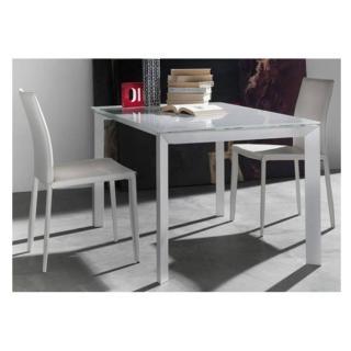 Table repas extensible TITANIUM 160 x 90 cm verre extra-blanc