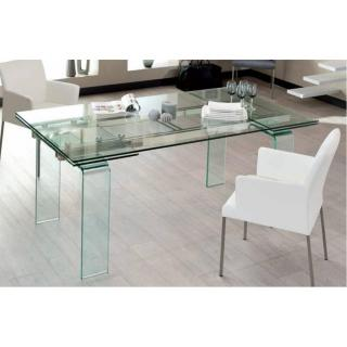 Table design extensible VITRO 140cm