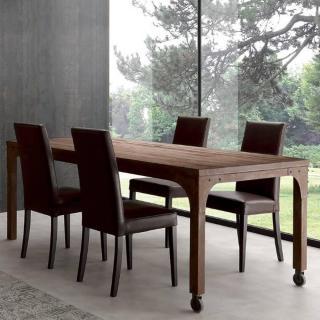 Table repas INDUSTRIAL VINTAGE en sapin vieilli