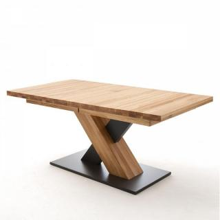 Table repas extensible MEUDON 140/220 x 90 cm chêne massif sauvage huilé