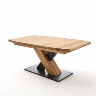 Table repas extensible MEUDON 180/270 x 90 cm chêne sauvage massif huilé