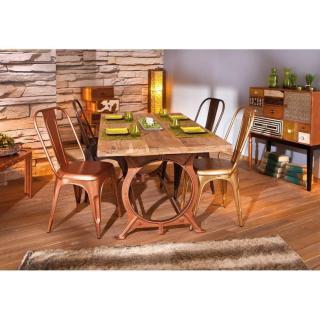 Table repas industrielle O TONE en bois massif