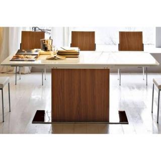 PARK table repas extensible haut de gamme 180/280*100cm en verre sérigraphié
