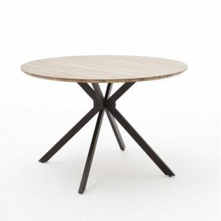 Table de séjour ronde FOCE 120 cm chêne sauvage