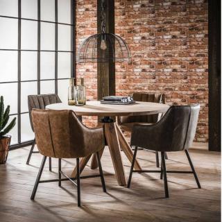 Table repas réglable  KYLIAN 120cm en acacia massif réglable