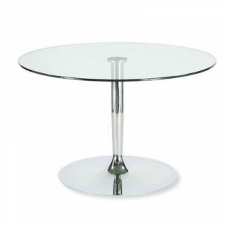 Table repas ronde PLANET en verre