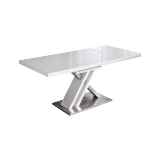 Table de repas extensible SONE design blanc 130x80