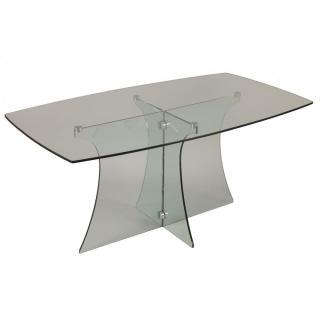 Table repas ZIRCON en verre