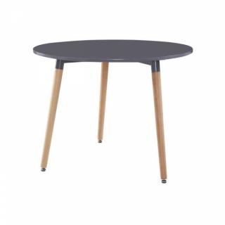 Table ronde style scandinave NORWAY 80 x 75 cm noir mat