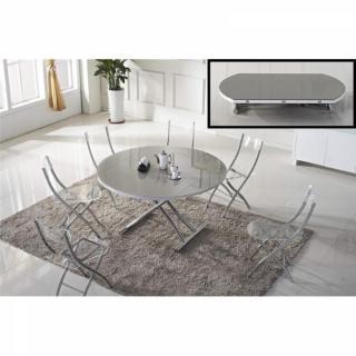 Table relevable design ou classique au meilleur prix - Table ronde grise ...