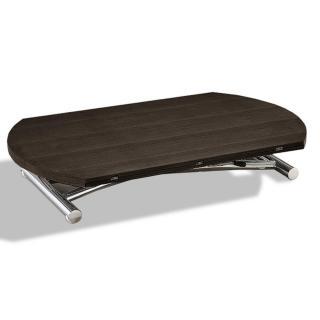Table basse ronde relevable et extensible PLANET wengé
