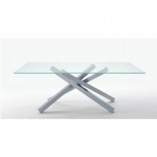 Table repas INFINITY en verre transparent 200 cm