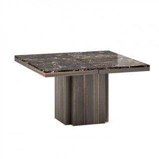 Table de repas WIDO plateau marbre marron